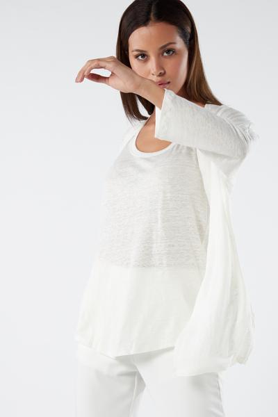 Linen 3/4 Sleeve Cardigan