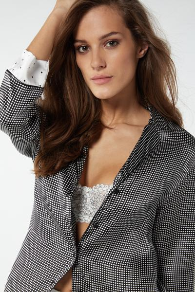 Lace Desire Silk Jacket