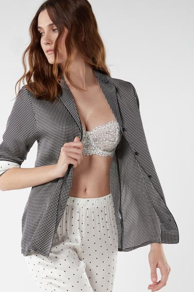 Lace Desire Viscose Satin Jacket