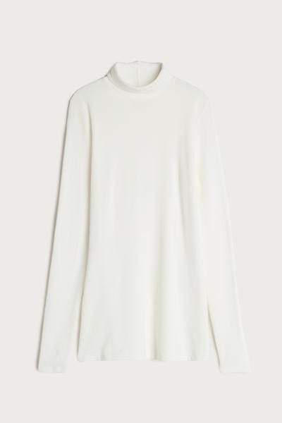 High-Neck Top in Modal Cashmere