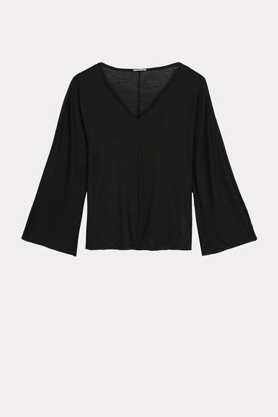 Longshirt mit 3/4-Ärmeln aus Lyocell