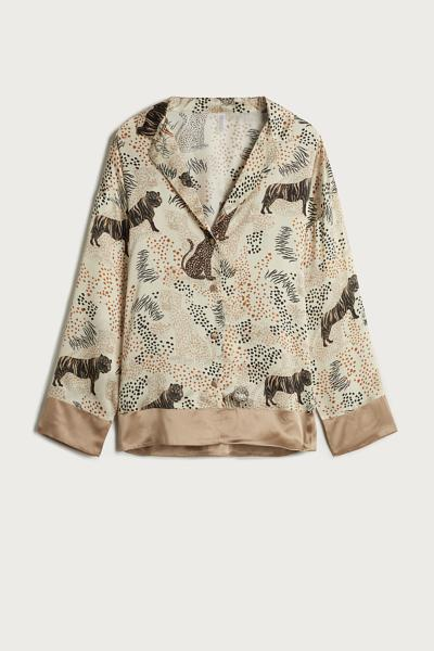 Tiger Night Silk Jacket
