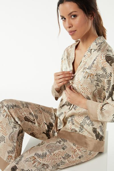 Tiger Night Viscose Satin Jacket