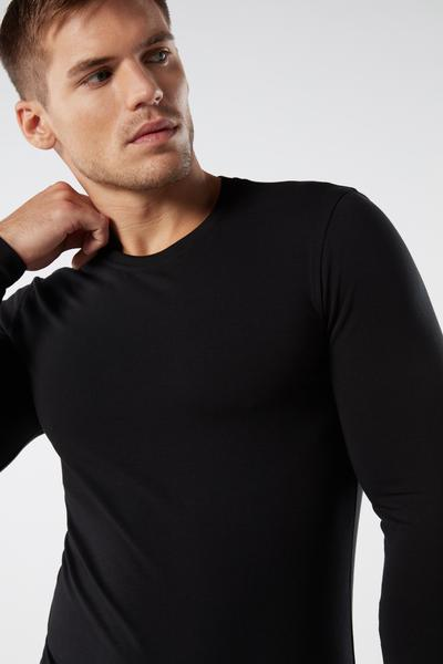 Long-Sleeve Stretch Supima Cotton Top