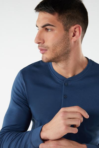 Supima Interlock Long-Sleeve Top