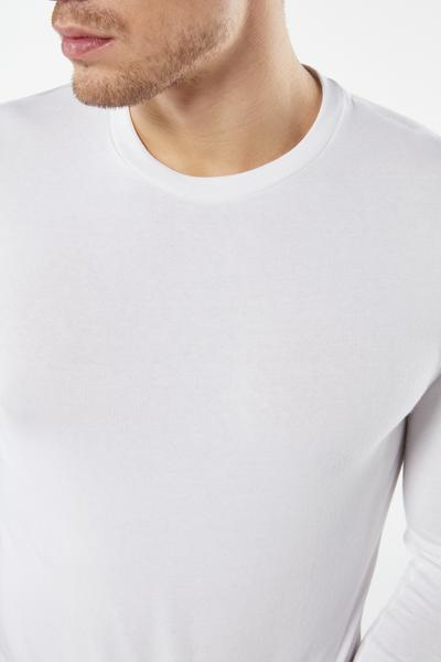 Long-Sleeved Cotton and Cashmere Top