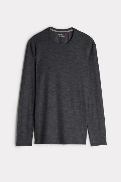 Long-sleeve Round-Neck Merino-Wool Top