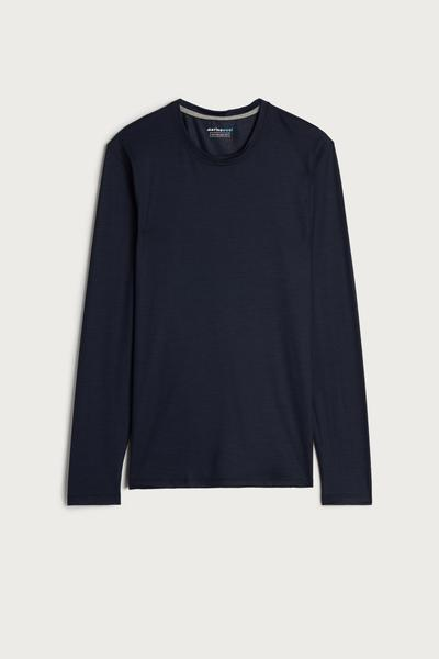 Long-sleeve Crew-Neck Merino-Wool Top