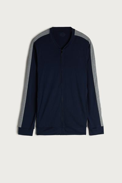 Interlock Sweatshirt with Central Zip