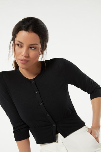 Short-Sleeved Short Ultralight Cashmere Cardigan