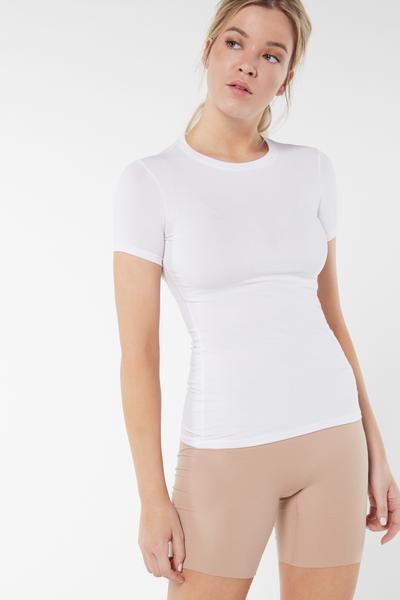 Kurzarmshirt aus Supima® Baumwolle mit Stretchanteil