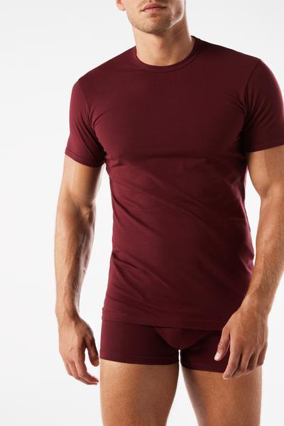 T-shirt Girocollo in Cotone Elasticizzato