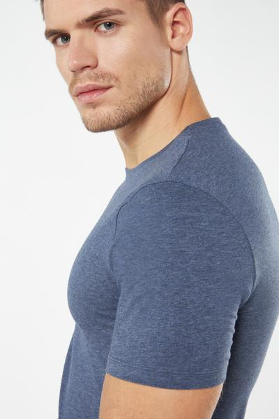 Supima® Stretch-Cotton Crew-Neck Top