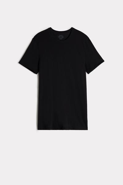 T-Shirt Manches Courtes Ras de Cou en Coton Supima® Extra-Fin