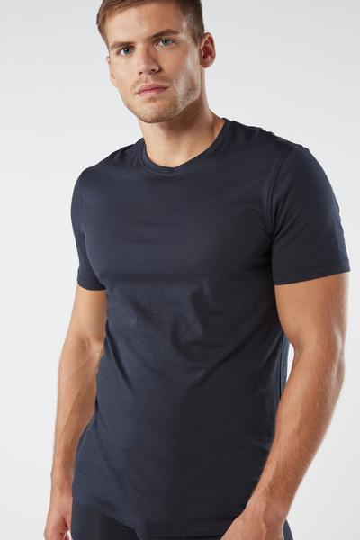 Short-Sleeve Crew-Neck T-Shirt in Extra-Fine Supima® Cotton