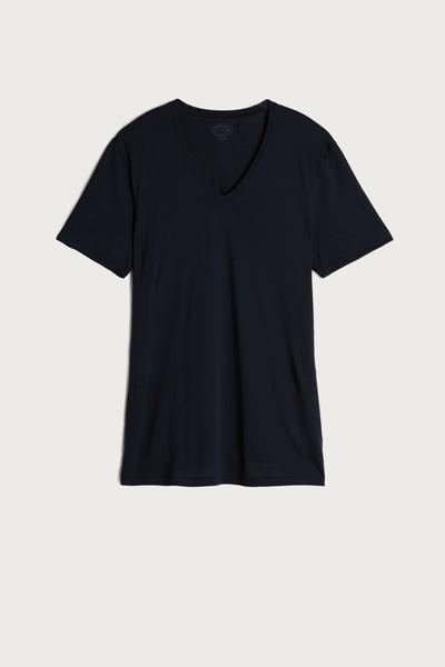 Short-Sleeve V-Neck T Shirt in Extra-Fine Supima® Cotton