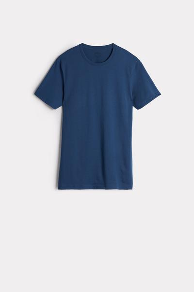 T-Shirt de Manga Curta Gola de Algodão Supima®