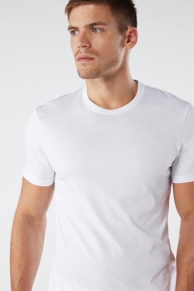 Short Sleeve Crew Neck T Shirt in Supima® Cotton