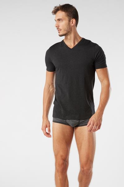 T-Shirt Manica Corta Scollo V in Cotone Supima®