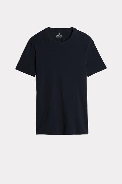 Short-Sleeved Cashmere and Cotton Shirt