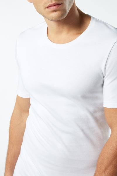 Short-Sleeve Warm-Handle Cotton Top
