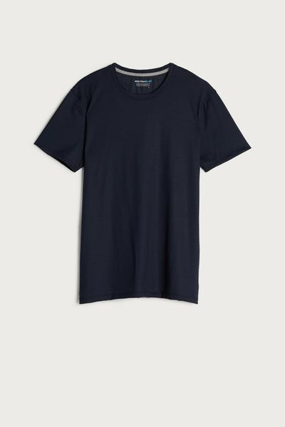 Short-Sleeve T-Shirt in Stretch Merino Wool