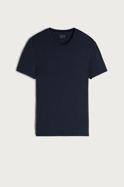 Crew-Neck Silk and Modal T-Shirt