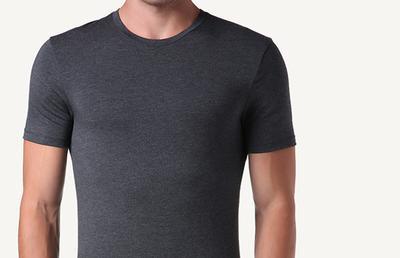 T-shirt in Modal e Seta Girocollo