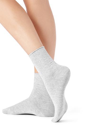 Short Cotton Socks with Raw Cut Cuffs