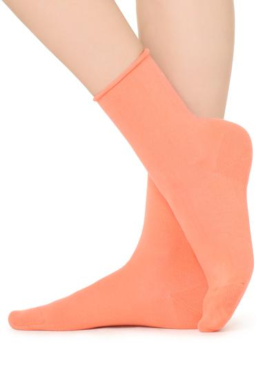 Short Cotton Socks with Raw Cut Cuffs