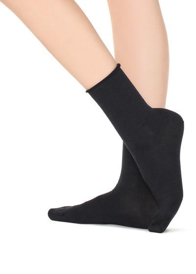 Socke aus Wolle/Baumwolle ohne Bündchen