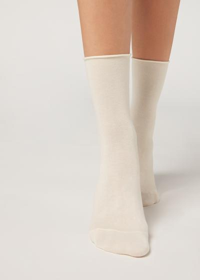 Short Cuffed Cotton Socks
