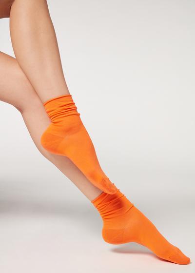 Short Cuffed Cotton Socks