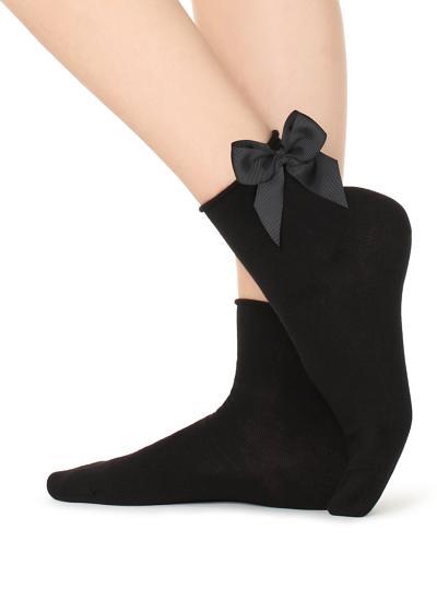 Warme Socken mit Muster und Applikation