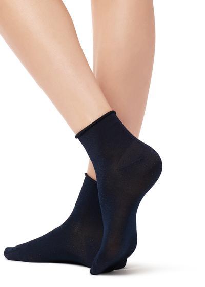 Short Trendy Patterned Socks