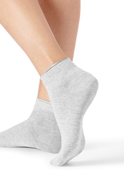 Extra nízke bavlnené ponožky bez patentu zplochého úpletu