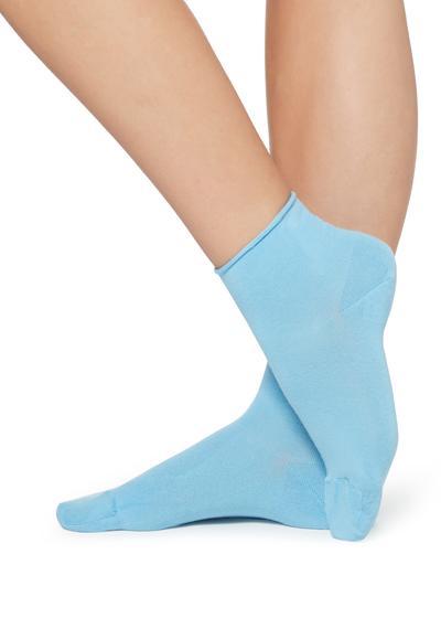 Extra Short Flat-Knit Bandless Cotton Socks