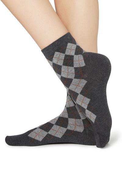 Gemusterte kurze Socken