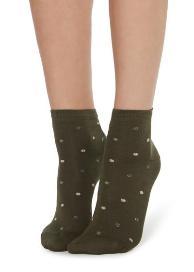 Fancy polka dot socks