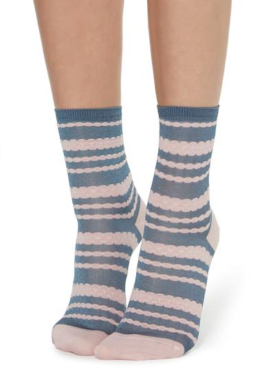 Fancy socks with embossed detail