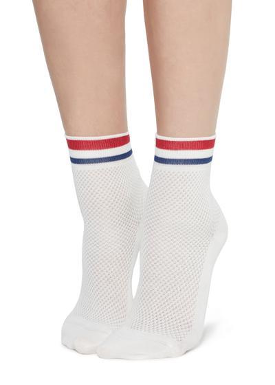 Fancy socks with openwork pattern