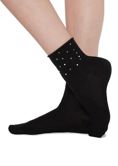 Socks with fancy motif