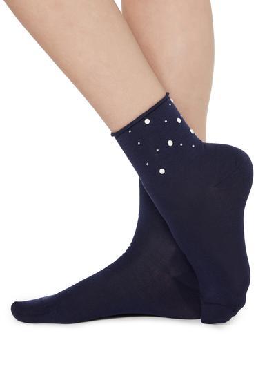 Figurierte Socken mit Glitzer