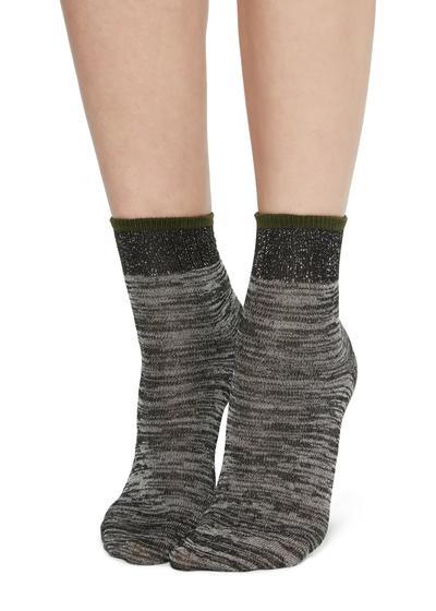 Socks with fancy motif