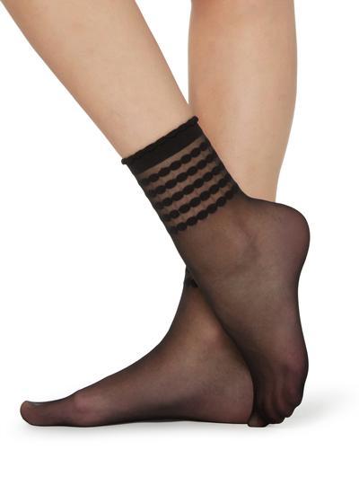 Socken mit geometrischem Muster