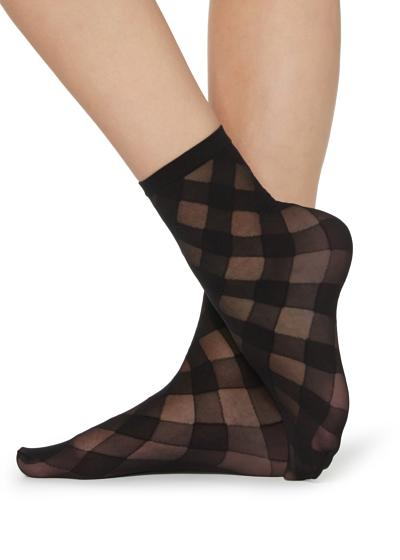 Socks with geometric pattern