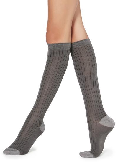 Chaussettes longues à motifs