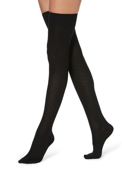 Cotton Thigh-High Tights