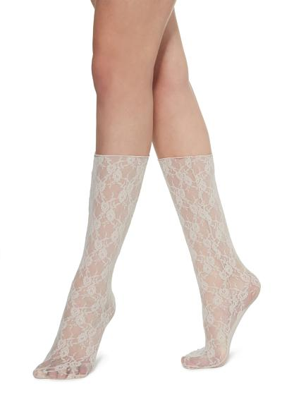 Fancy knee-highs with chic motif