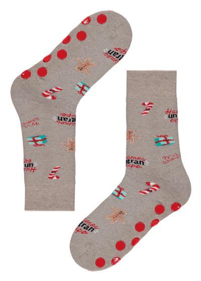 Chaussettes Homme antidérapantes de Noël